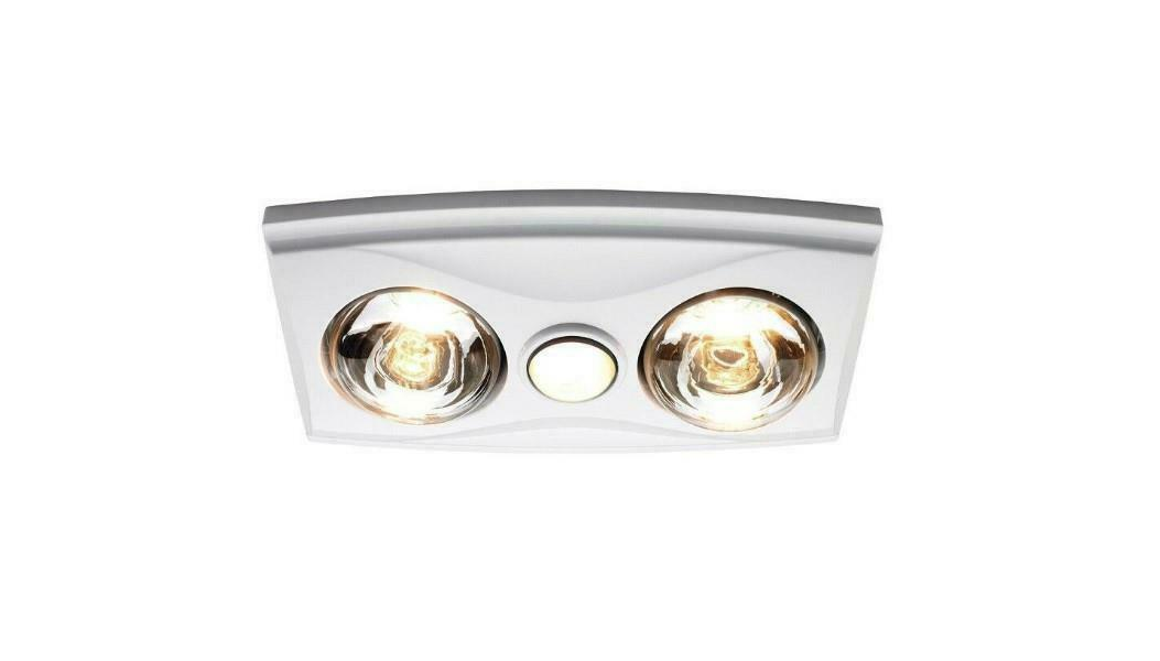 Bathroom Heater Ixl 3 In 1 2 X 275w Heat Lamps Exhaust Fan Light White Lamex